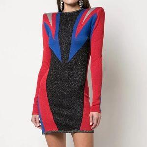 Balmain × Puma Jacquard Knit Mini Dress